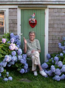 Kurt Vonnegut in Garden